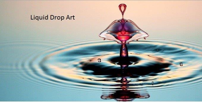 Liquid Drop Art